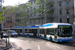 Trolleybus in Zurich, Switzerland
